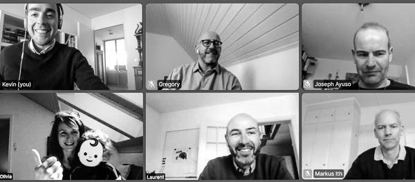 L'équipe de Fri Up en vidéoconference pendant la pandémie Corona