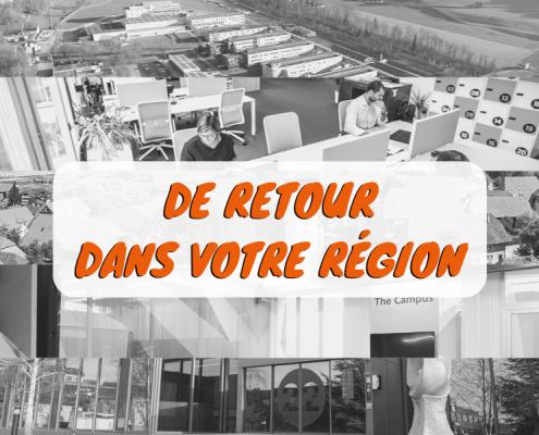 Nos coaches sont de retour dans les espaces d'innovation et de coworking du canton de Fribourg